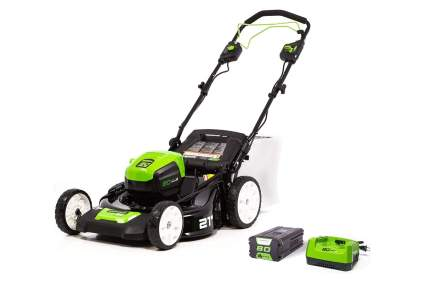 Greenworks Pro 21in 80v Brushless Self-Propelled Cordless Electric Lawn Mower
