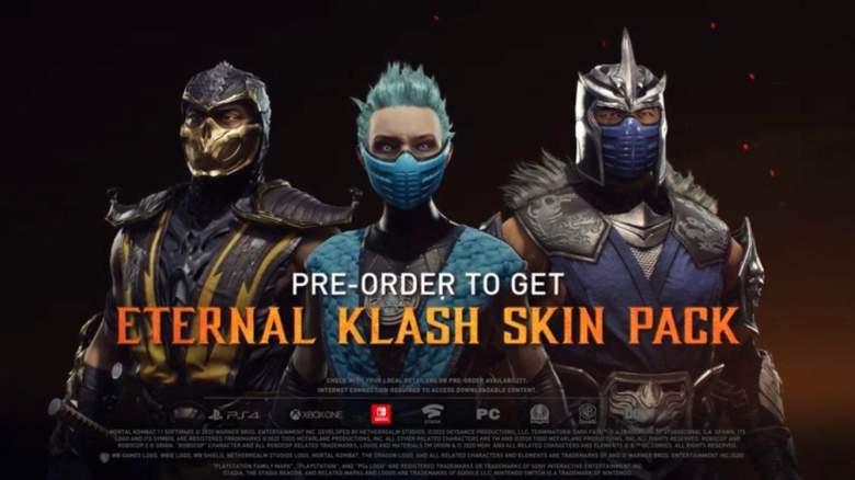 MK 11 Eternal Klash Skin Pack DLC