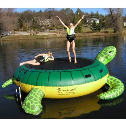 Island Hopper 13' Turtle Hop Water Bouncer