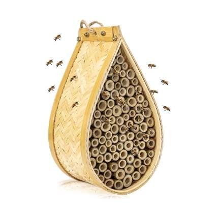 teardrop shape bamboo mason bee house
