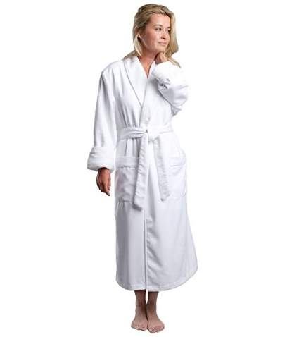 Monarch Plush Lined Microfiber Spa Robe