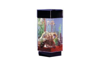 Midwest Tropical Fountain Aqua 15 Gallon Hexagon Aquarium Kit