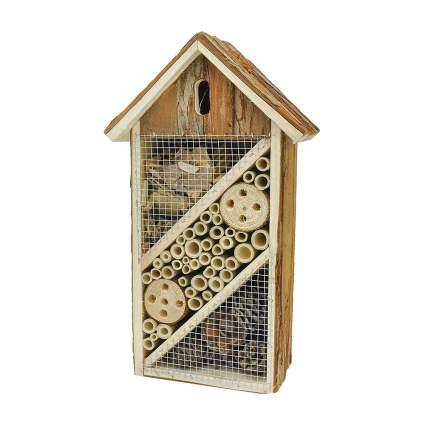 natural wood mason bee house