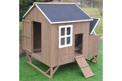 Omitree Deluxe Wooden Backyard Chicken Coop