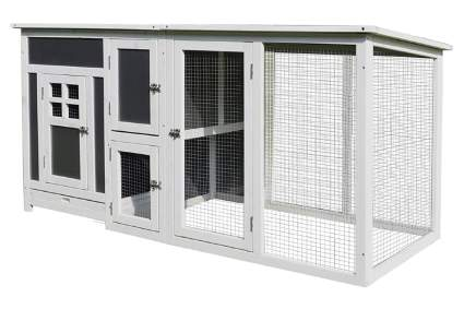 PawHut Wood Indoor Outdoor Chicken Coop