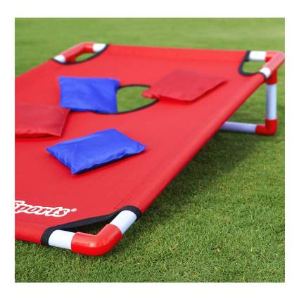 portable cornhole set