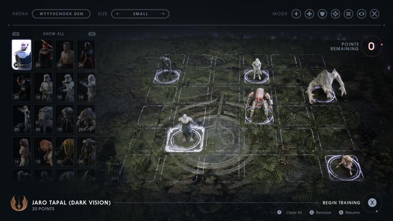Battle Grid mode in Jedi Fallen Order