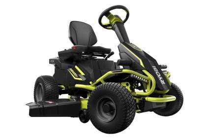 Ryobi 38 inch 100 Ah Battery Electric Rear Engine Riding Lawn Mower