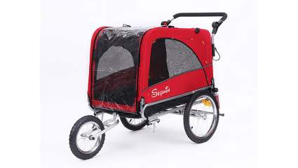 sepnine 3 in 1 luxury bike trialer