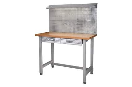 Seville Classics Lighted Stainless Steel Workbench