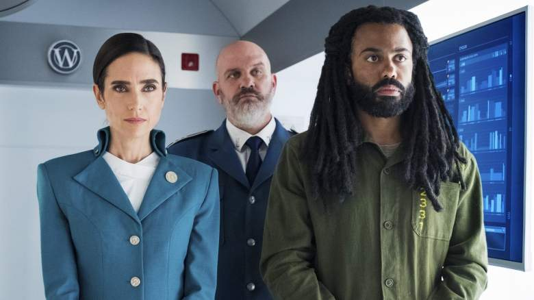 Jennifer Connelly, Daveed Diggs and Mike O'Malley in Snowpiercer