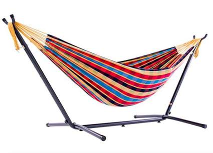 Vivere Freestanding Hammock with Space Saving Steel Stand