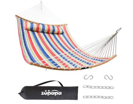 Zupapa 2-Person Hammock with Curved Bamboo Spreader Bars