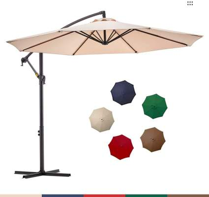Le Conte Offset Umbrella 10ft Cantilever Patio Hanging Umbrella Outdoor Market Umbrellas