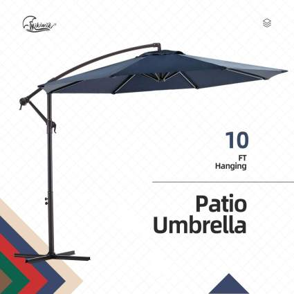 wikiwiki Offset Umbrella 10ft Cantilever Patio Umbrella