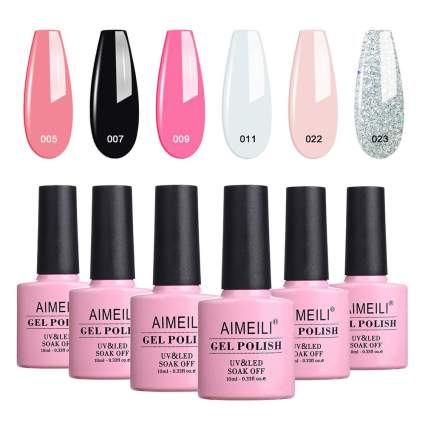 Pink Aimeili polish bottles