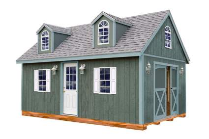 large storage shed with dormers
