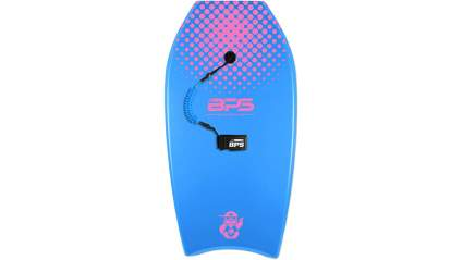 BPS 'Shaka' Bodyboard with Wrist Leash - Strong TPU Wrist Leash and Constructed with HPDE Slick Bottom