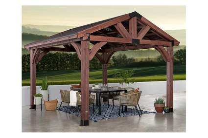 12 x 12 foot wood gazebo
