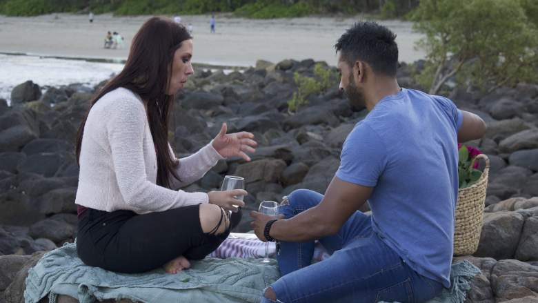 Avery and Ash having a picnic on 90 Day Fiance
