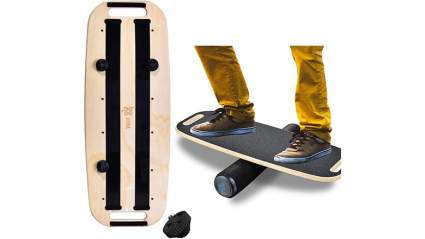 Bona Fitness Balance Board Trainer Wooden with Adjustable Stoppers – 3 Different Distance Options 4, 12 and 21 inches