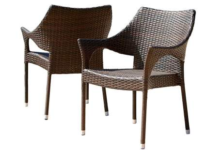 Christopher Knight Home Cliff Outdoor Wicker Set of 2 Chairs