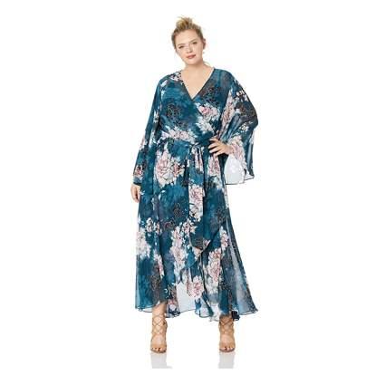 floral wrap plus size dress