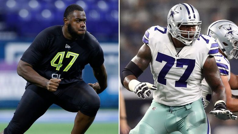 Will Giants play Andrew Thomas at left tackle or right tackle?