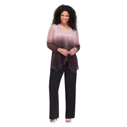 Woman in ombre pant suit