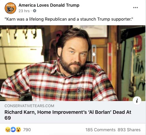 Richard Karn Dead