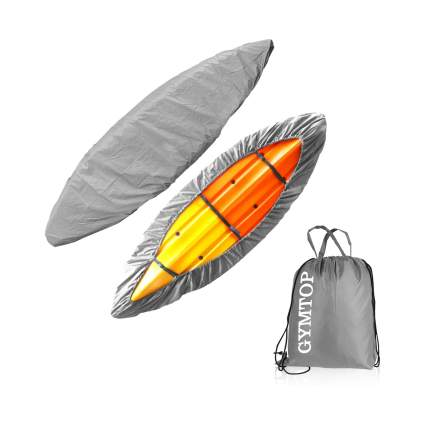GYMTOP 7.8 to 18 foot Waterproof Canoe & Kayak Cover