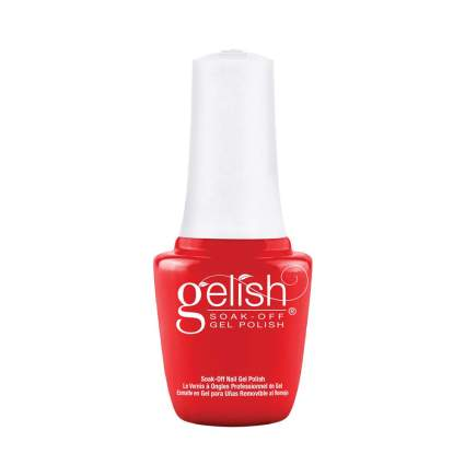 Red Gelish polish bottle