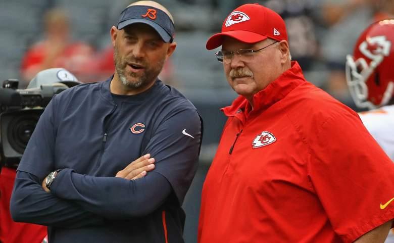 Head coaches Matt Nagy and Andy Reid