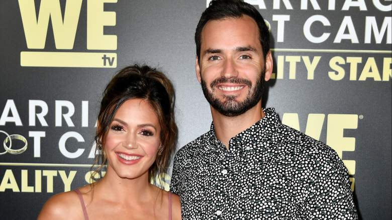 "Desiree Hartsock Siegfried (L) and Chris Siegfried attend the premiere of WE tv's ""Marriage Boot Camp Reality Stars"" at HYDE Sunset: Kitchen + Cocktails on August 28, 2018"
