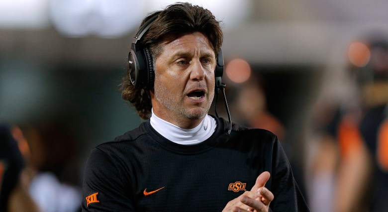 Oklahoma State head coach Mike Gundy racist language
