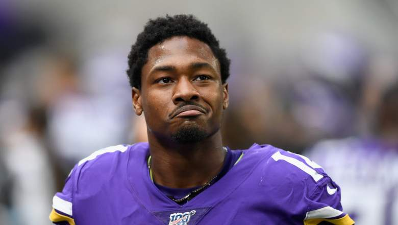 Stefon Diggs in Vikings gear