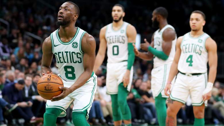 A healthy Kemba Walker (left) is a big factor for the Celtics