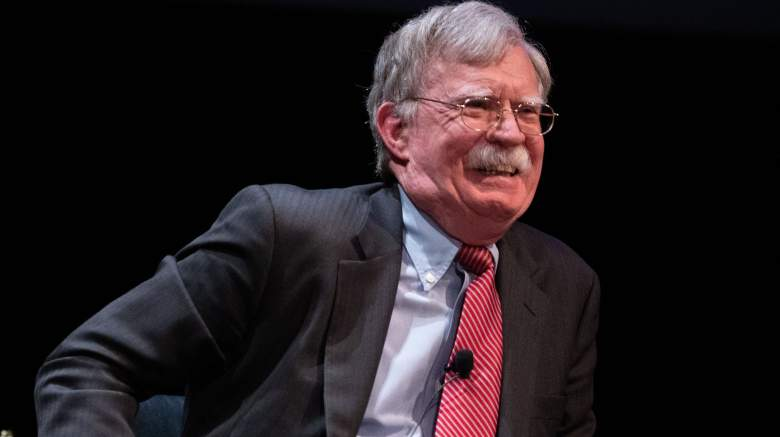 Former National Security adviser John Bolton speaks on stage during a public discussion at Duke University in Durham, North Carolina on February 17, 2020. - Bolton was invited to the school to discuss national security weeks after he was thought of as a key witness in the impeachment trial of President Donald Trump.