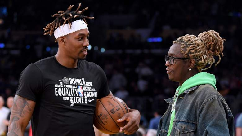 Dwight Howard, at left, and rapper Young Thug