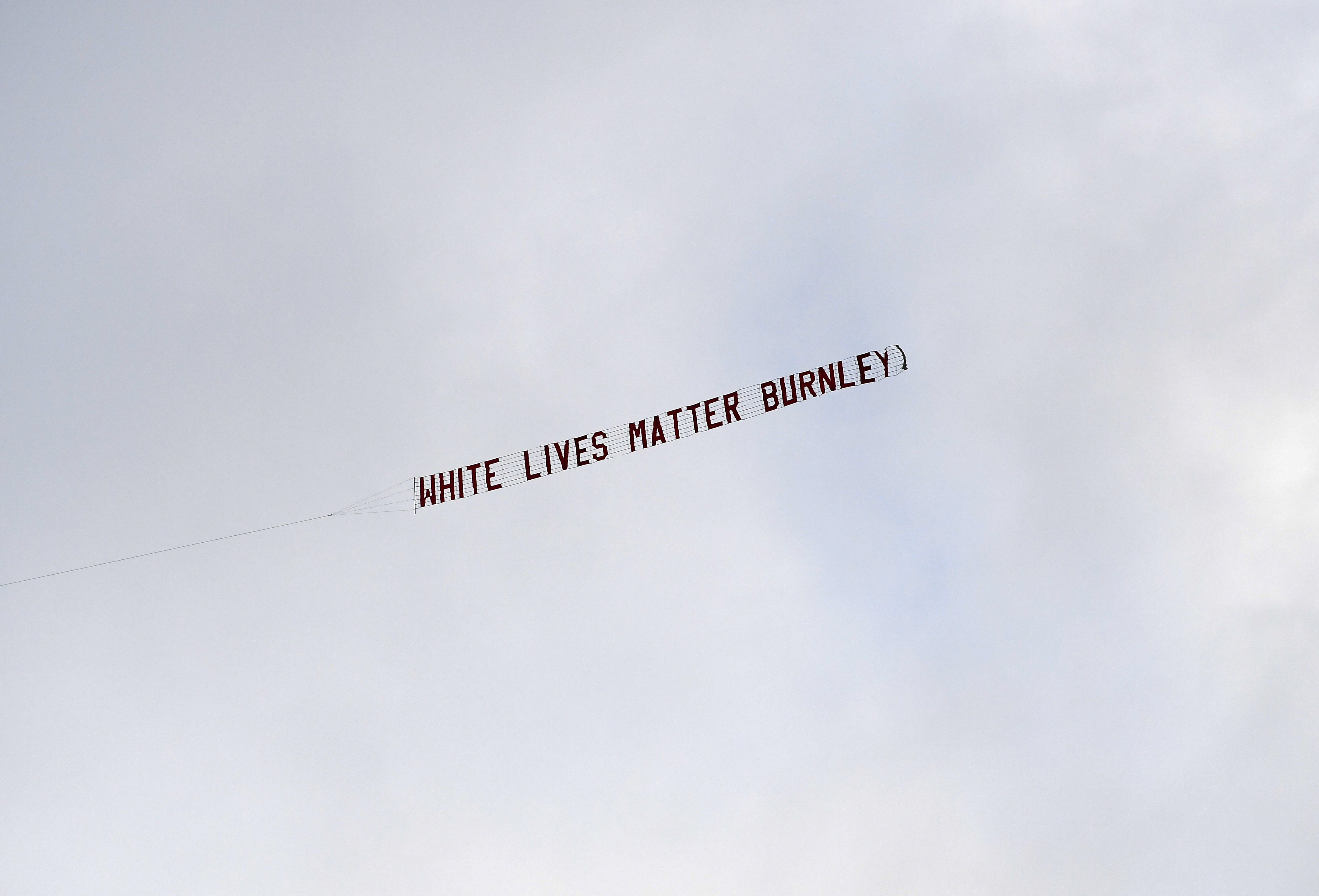 who flew the white lives matter banner
