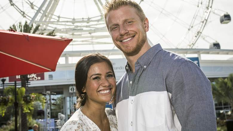 "Catherine Lowe and Sean Lowe in front of the Orlando Eye, I-Drive 360-home of the new Orlando Eye-celebrated its grand opening with a record-breaking walk by ""King of the High Wire"" Nik Wallenda on April 29, 2015."