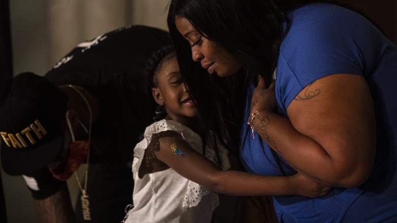 Gianna Floyd and mother Roxie Washington