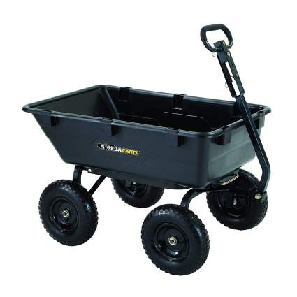 heavy duty poly dump cart