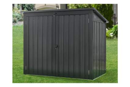metal trash storage shed
