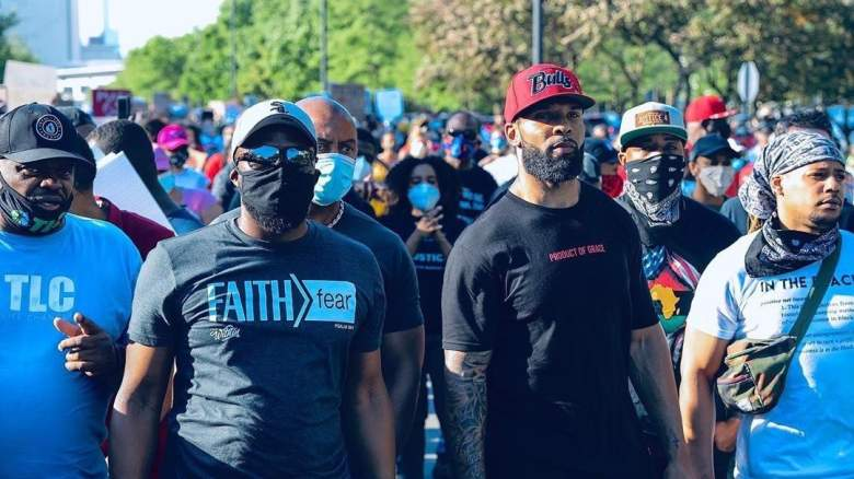 Matt Forte Anthony Adams Johnny Know Chicago Bears protests