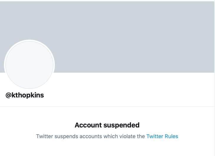 Katie Hopkins Twitter account