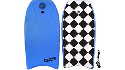 KONA SURF CO. Turbo Contour Body Board Lightweight Soft Foam Top Boogie Bodyboard Package Includes Premium Wrist Leash