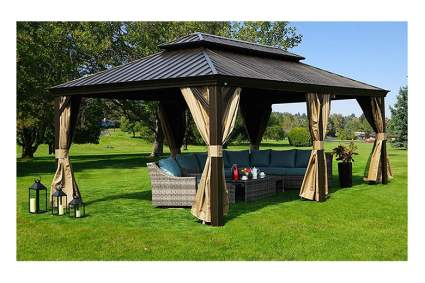 12 by 20 foot permanent gazebo