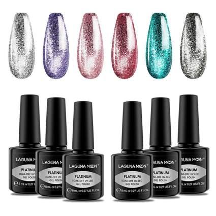 Metallic pastel nail polish