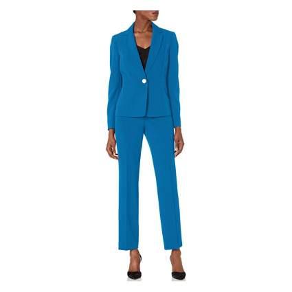 Woman in blue blazer